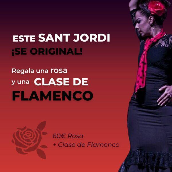 regala una rosa y una clase de flamenco